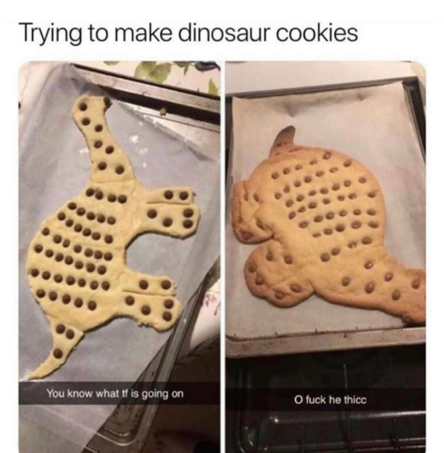 Thicc dinosaur - meme