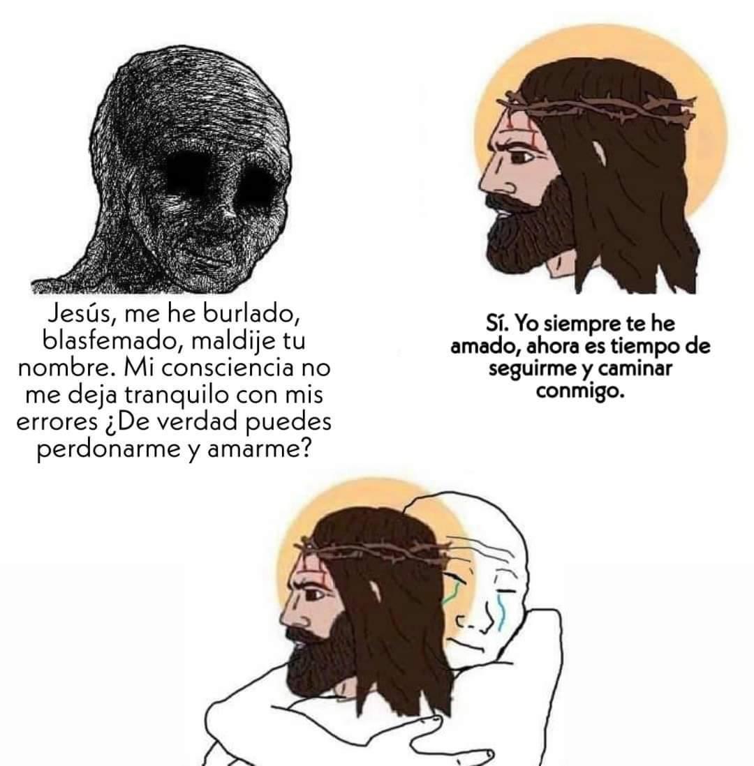 Muchísimas gracias Jesús - meme