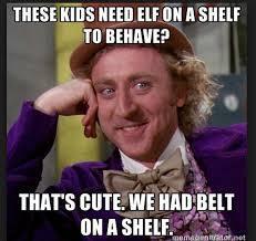 Belt on the shelf, sounds about right - meme