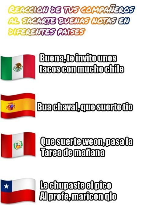 los distintos paises - meme