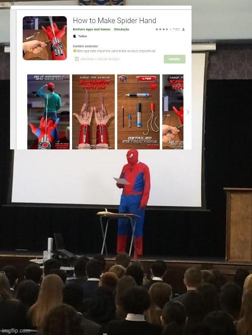 como surgiu o homem aranha : - meme