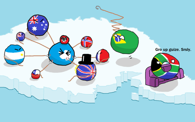Descripción gráfica de la Antartida - meme