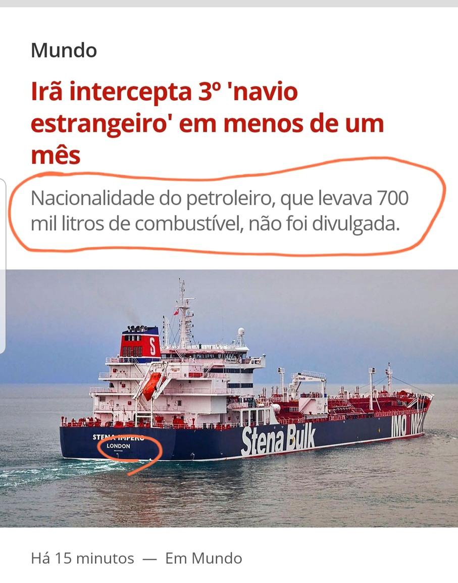 Certamente um navio chileno - meme