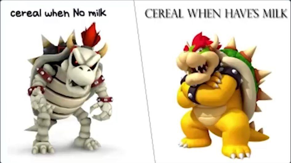 que rico es el cereal con leche - meme