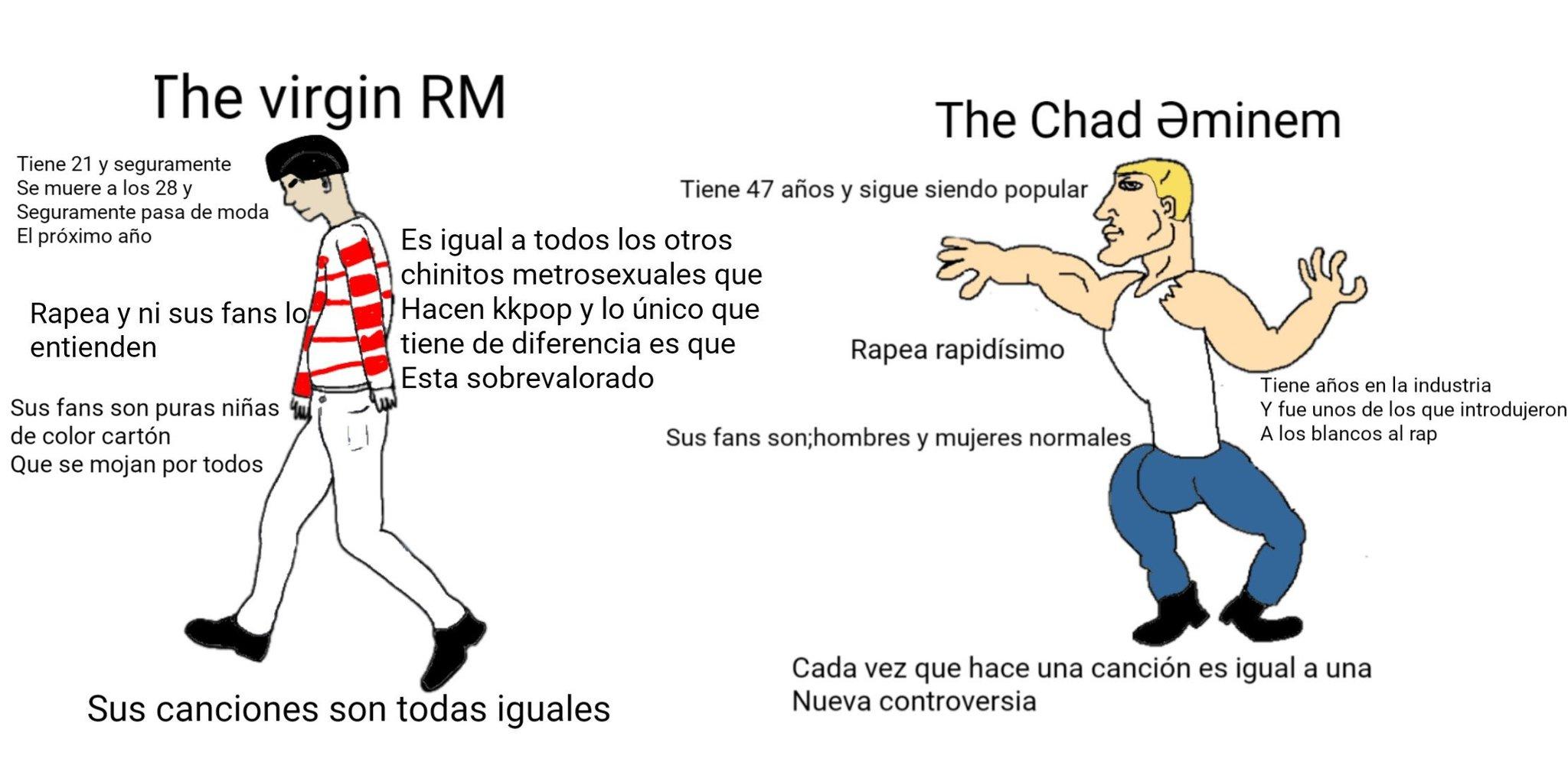 The chad eminem vs the virgin rm - meme