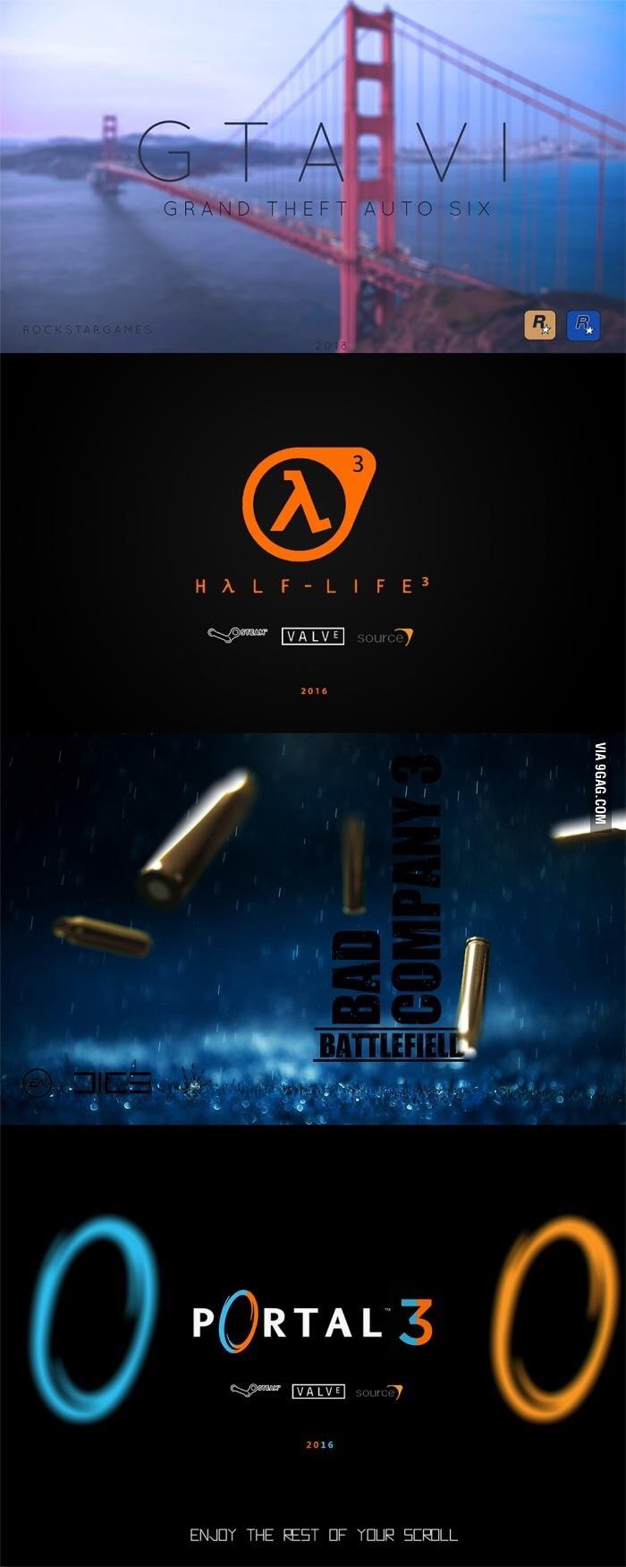 estos son los juegos que todo buen gamer esta esperando - meme