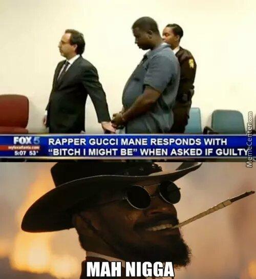 All hail the trap God Gucci Mane ( ‾ʖ̫‾) - meme