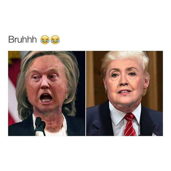 This makes Hilary look sexy - meme