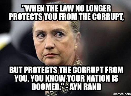 Hillary Clinton corruption meme