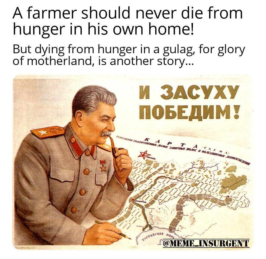 Stalin Cares! - meme