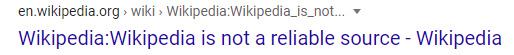 Wikipedia does not trust itself - meme