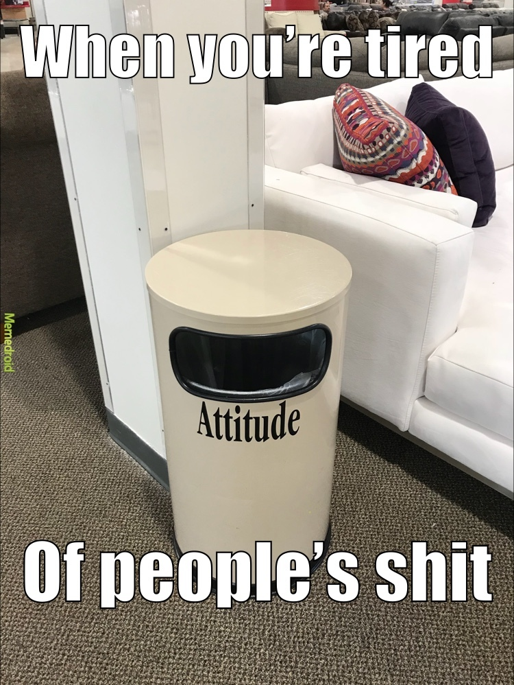 trashy attitude - meme