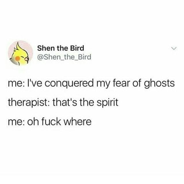 I'm afraid of ghosts - meme