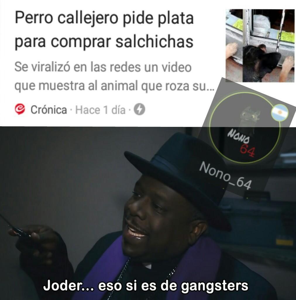 El perro gangsters - meme