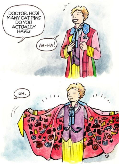 the 6th Doctor had a wierd outfit. - meme