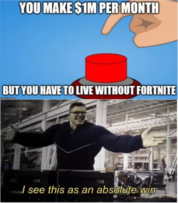 Press the button - meme