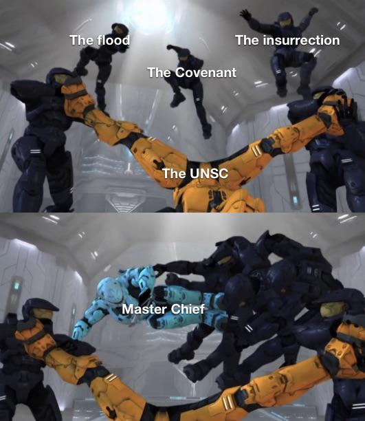 Master Chief the real MVP screw locke - meme