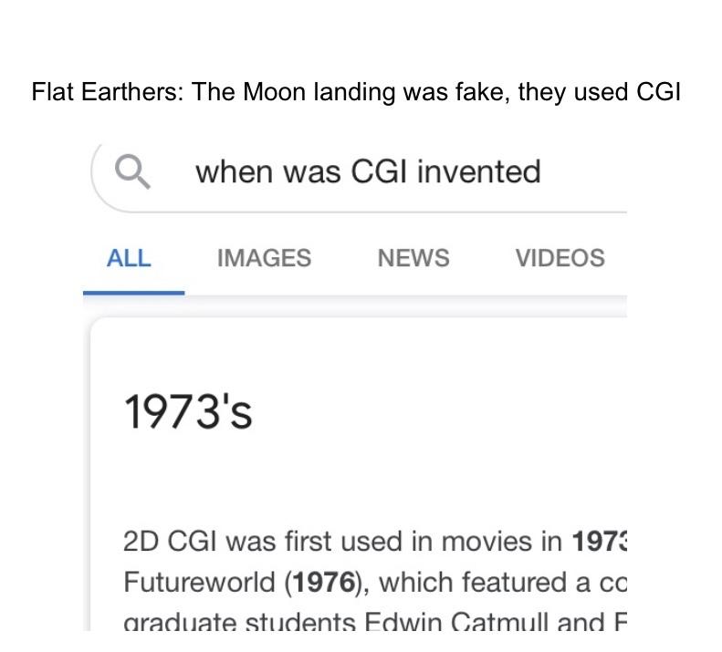 Flat Earthers in a nutshell - meme