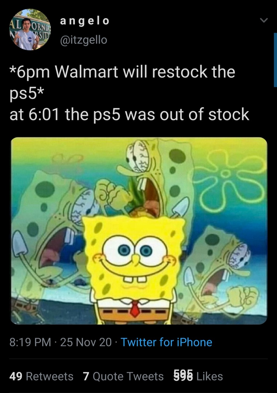 I feel sorry for ps5 users - meme