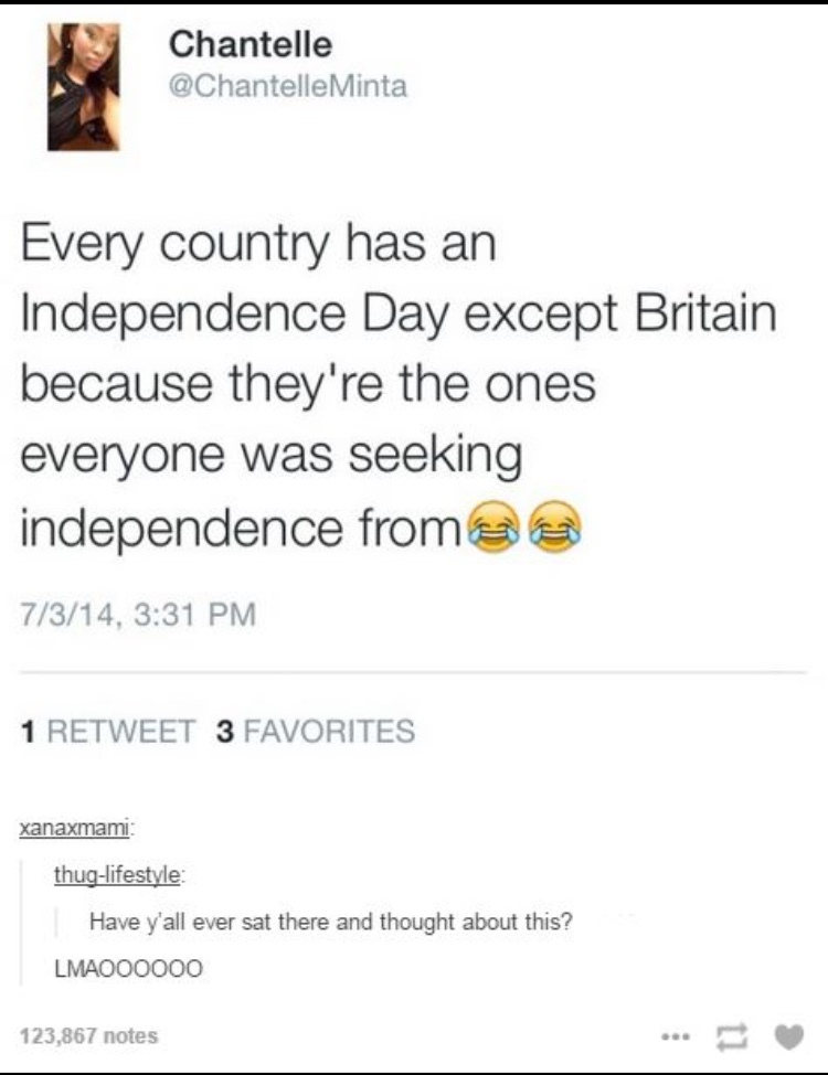 Independence Days are for pussy countries - meme