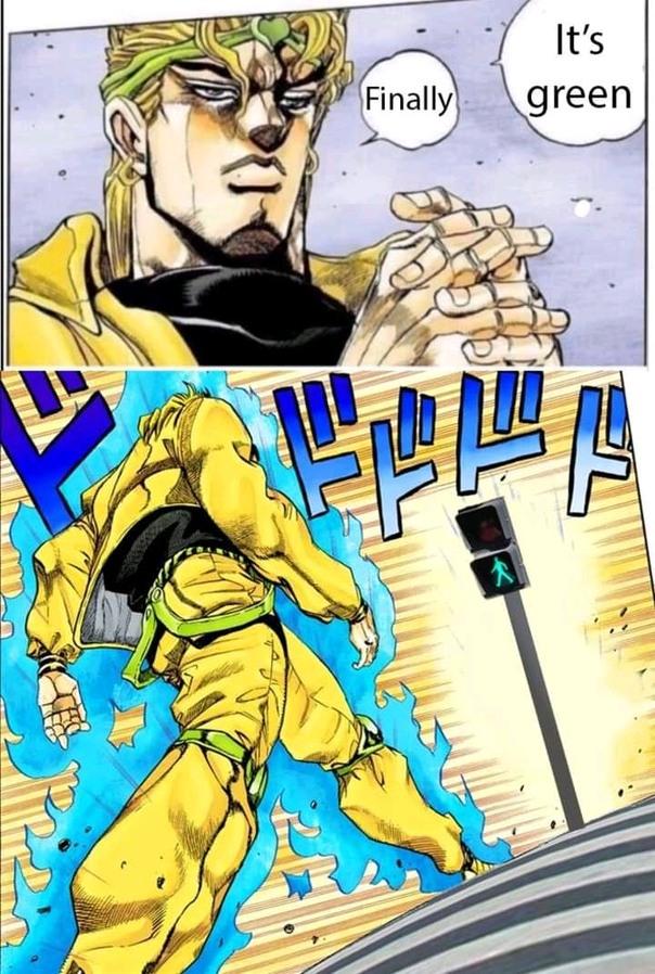 is this a jojo ref ? - meme