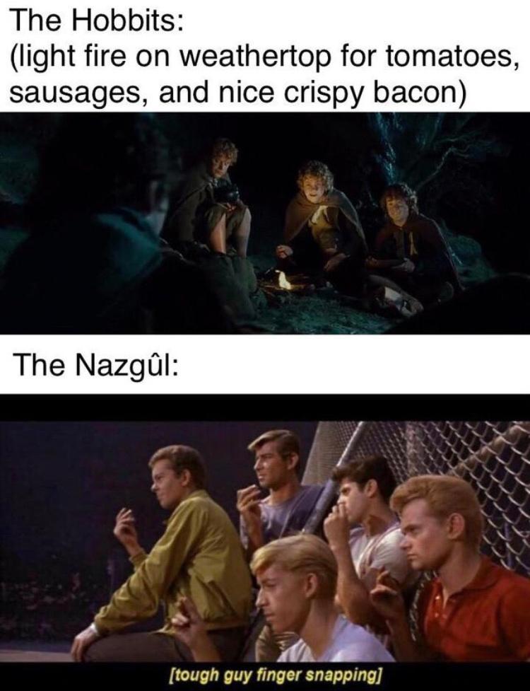 Nazgûl street gang - meme