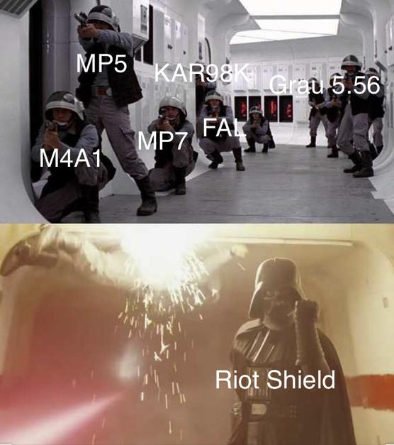 MW Riot Shield O.P. - meme