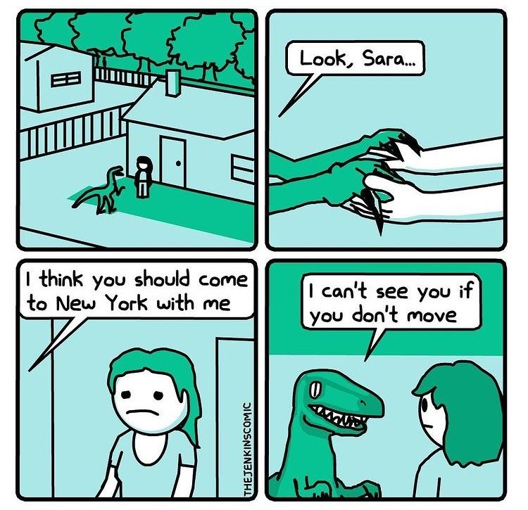 raptor boyfriend - meme