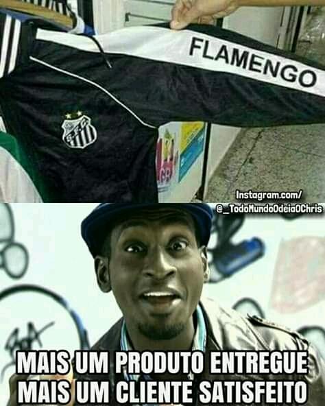 orra perigo pedi do Santos veio de América - meme