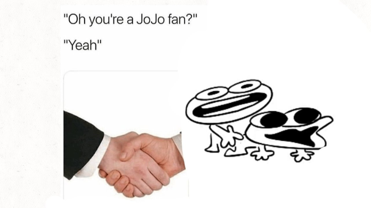 Jojo is gay - meme