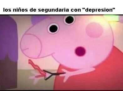 Pepa depresiva - meme