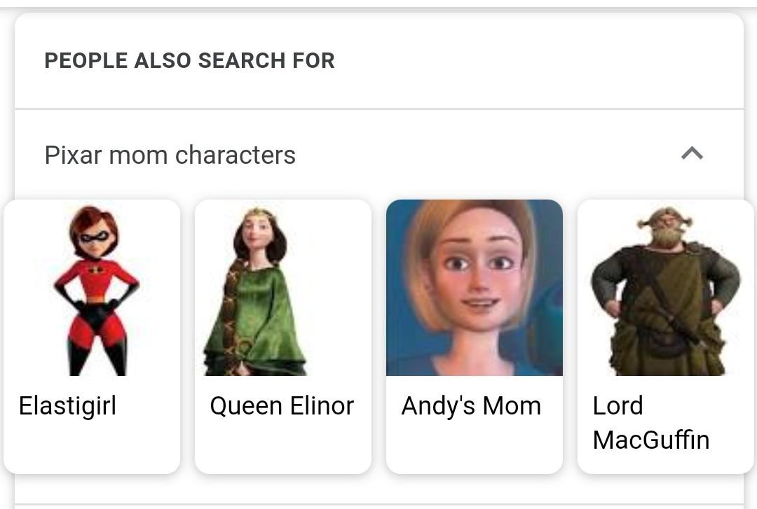 Lord MacGuffin is my favorite Pixar Mom - meme