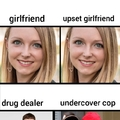 Boys will notice undercover police but not when their girlfriends are upset