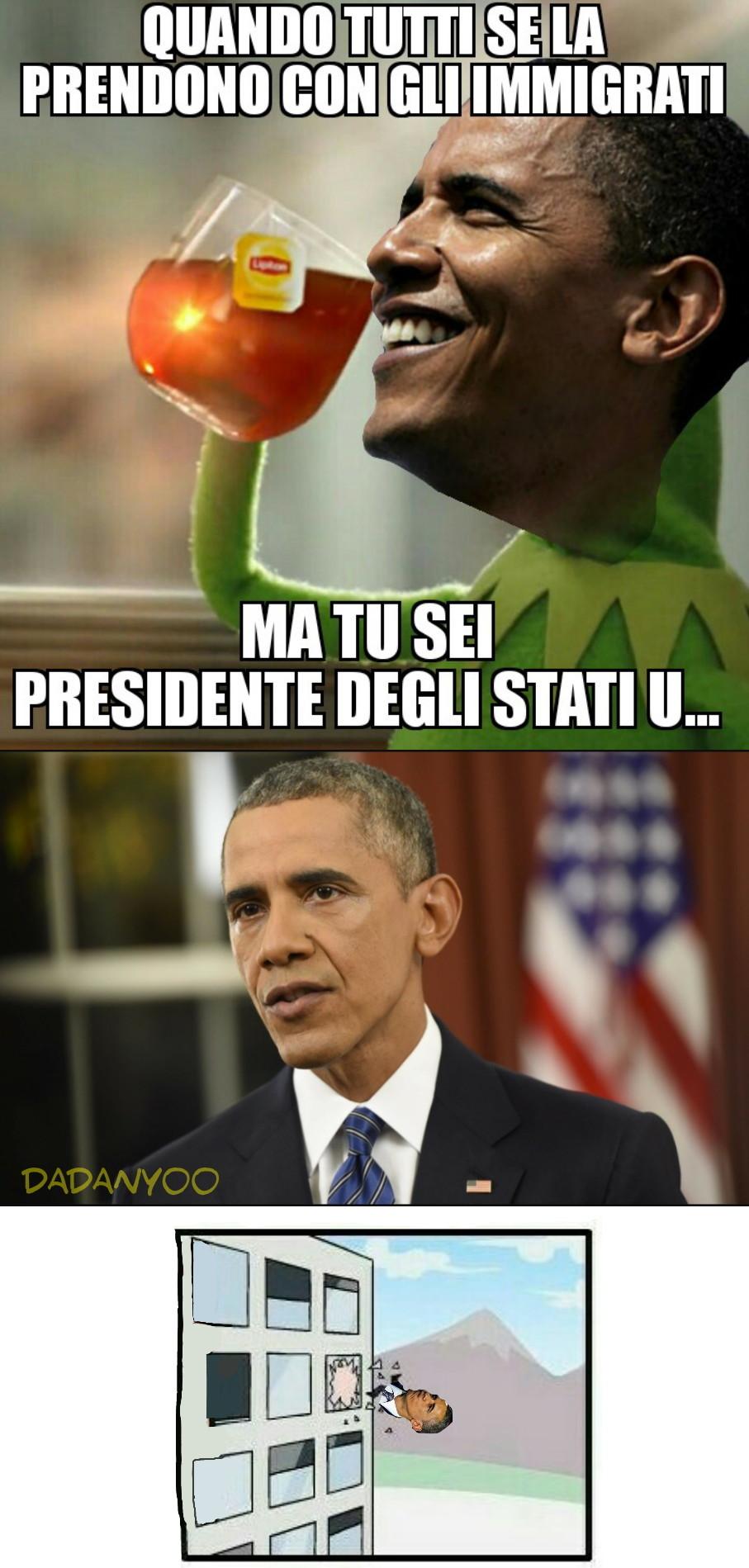Giuro che è l'ultimo su Obama - meme