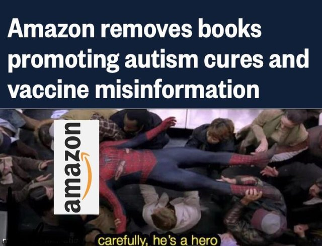 Amazon removes books promoting autism cures and vaccine misinformation - meme