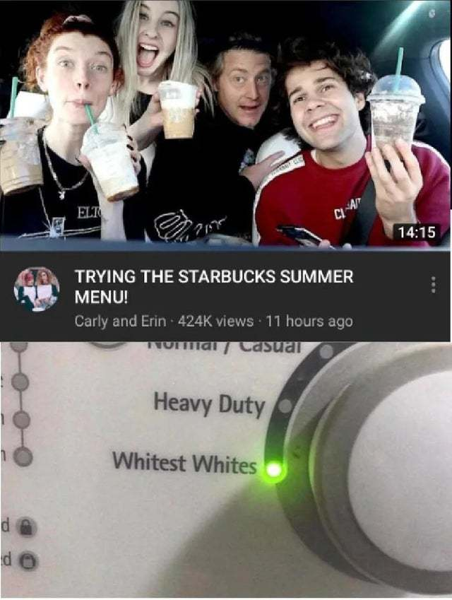 Trying the Starbucks summer menu - meme