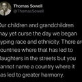 Someone set up us the Thomas Sowell