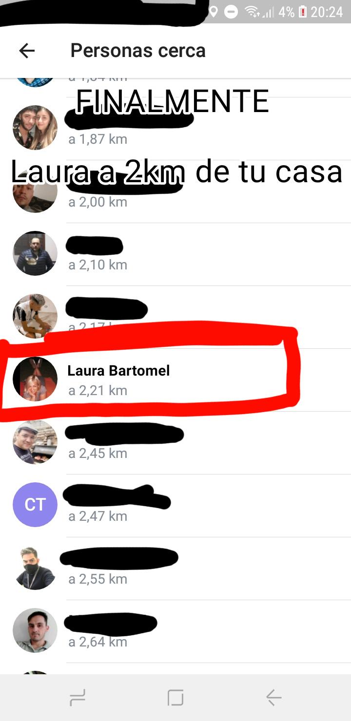 Finalmente Laura a 2k de tu casa - meme