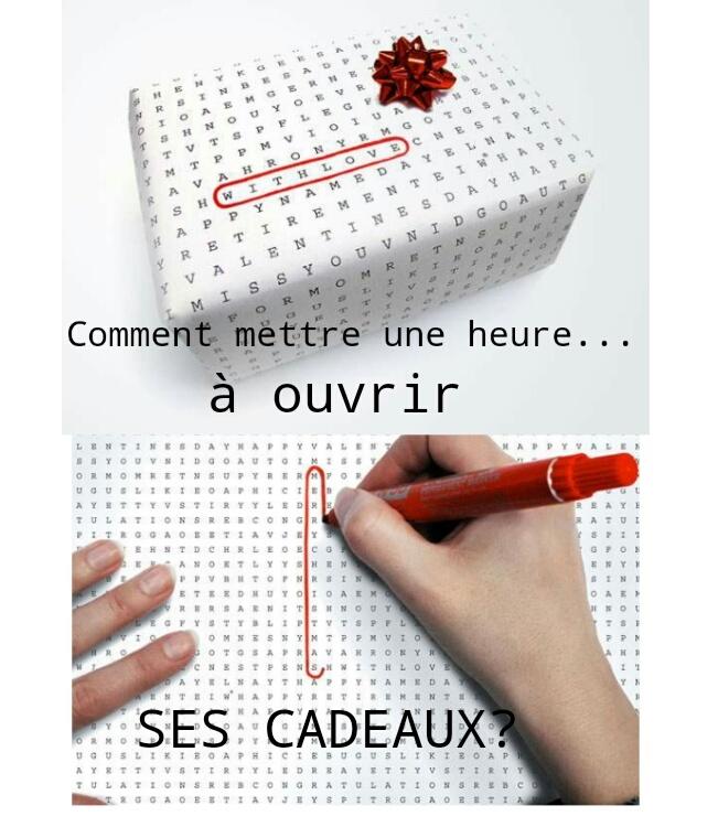 Papier cadeau... enfin... papier torture - meme