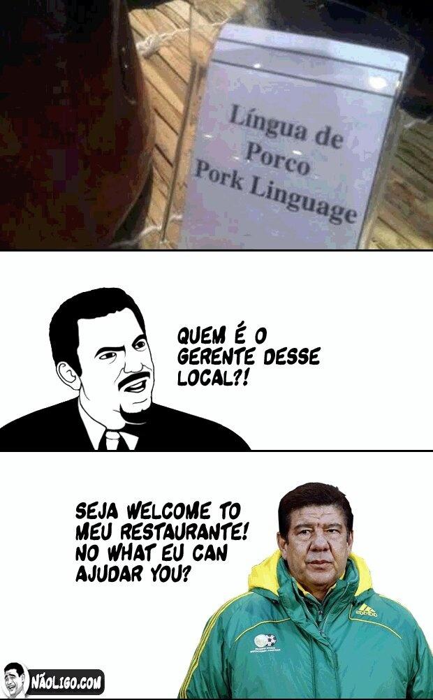 Inglês do Joel Santana is de bestí - meme