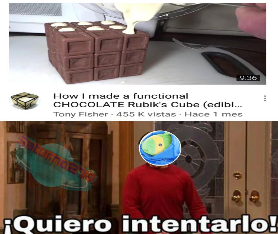 The Maoisha me enseñó a armar el cubo de rubik - meme