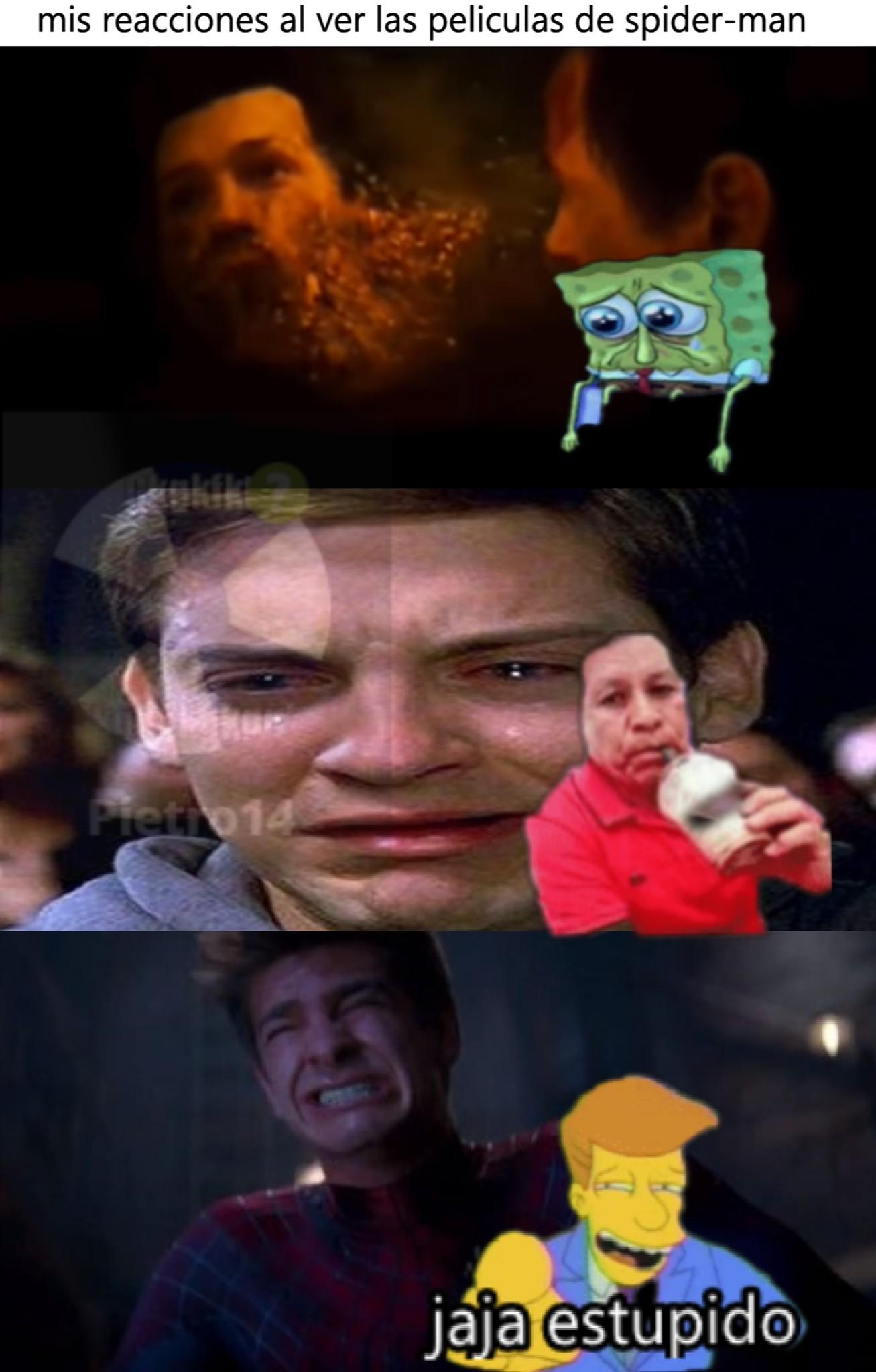 cuando veo la peliculas de spiderman - meme