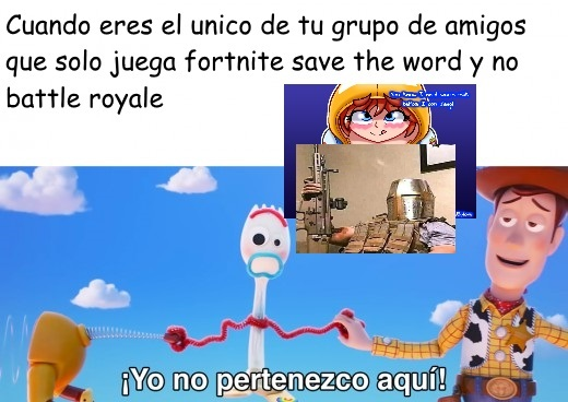 El primer meme de fortnite salvar el mundo