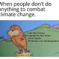 When people don't do anything to combat climate change