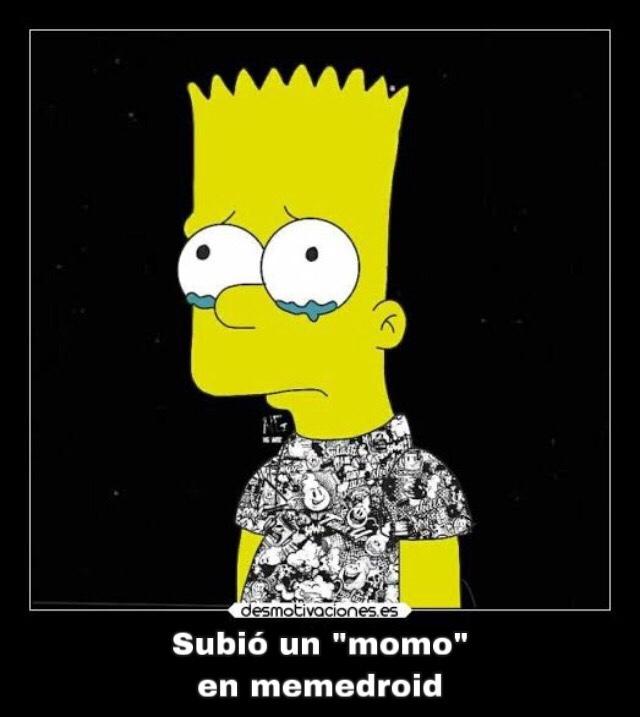 Bart triste - meme