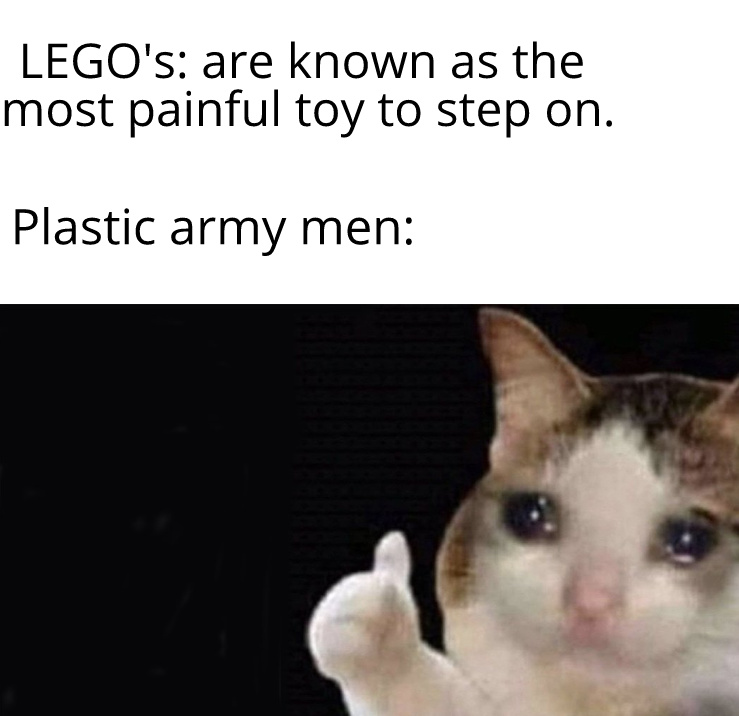 plastic is sharp - meme