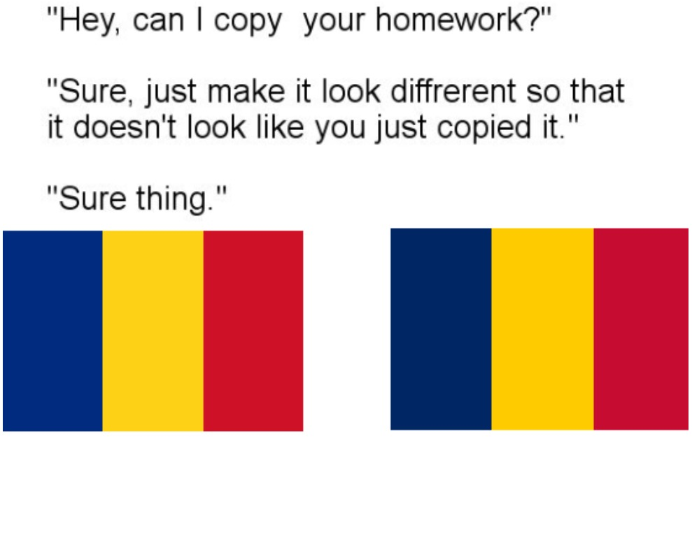 right one is Romania and left is Chad - meme
