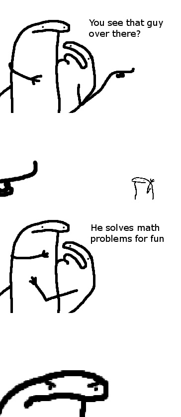 He solves math - meme