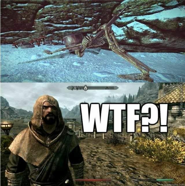 Oque aconteceu com o Pobre esqueleto? - meme
