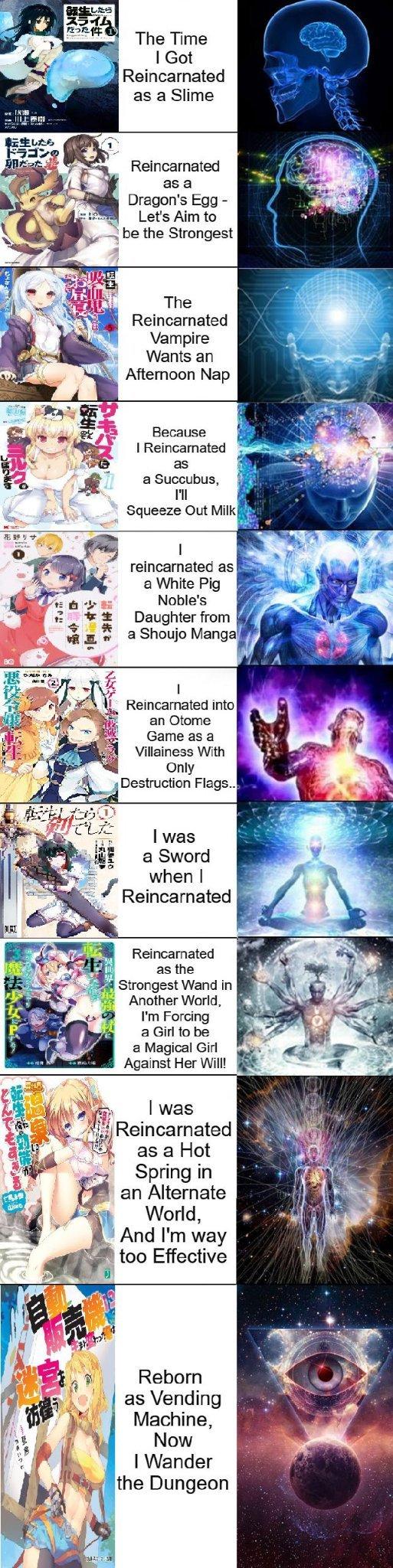 I reincarnated as a weeb - meme